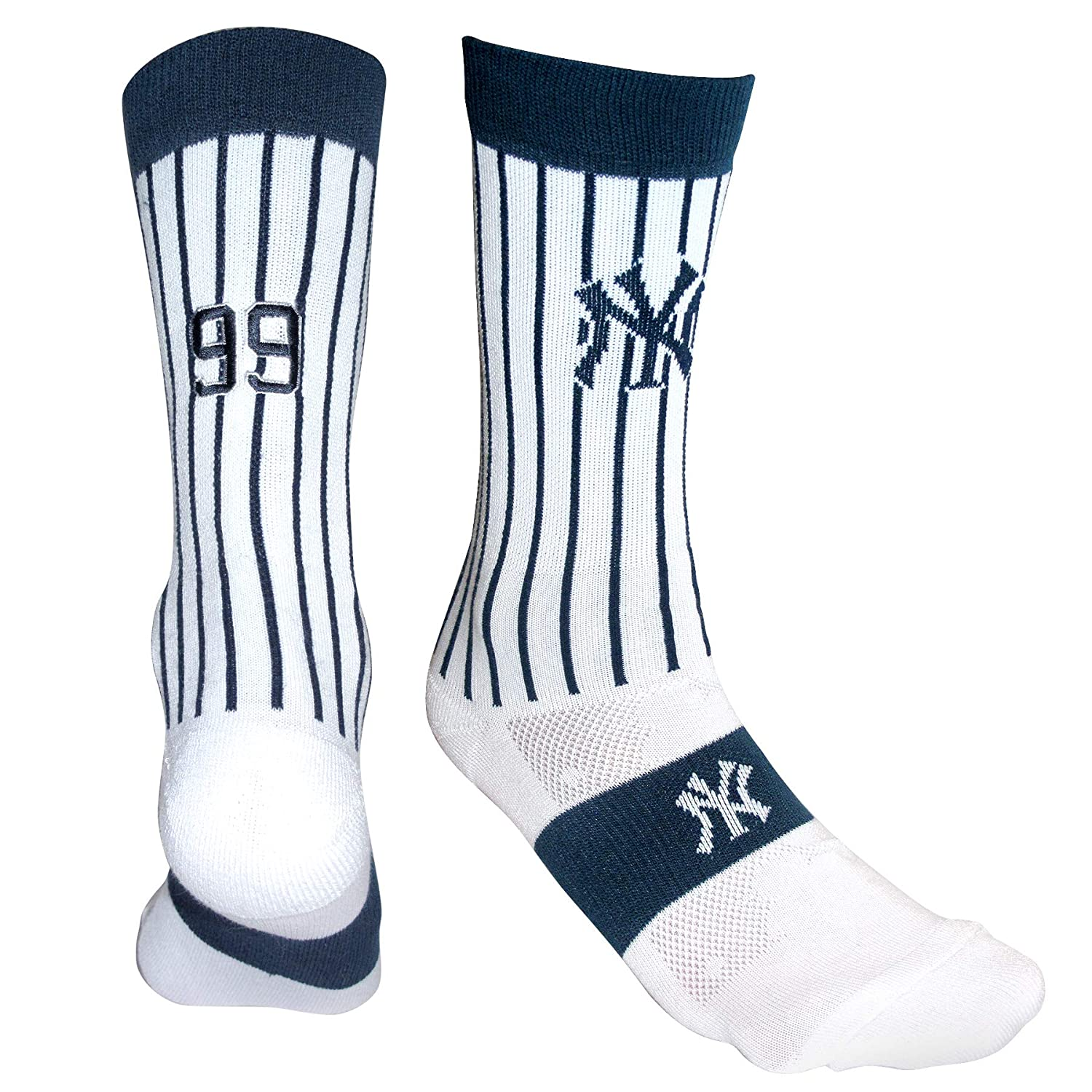 PKWY by Stance MLB Mens 2-Pack New York Yankees /& Aaron Judge #99 Player Uniform Socks