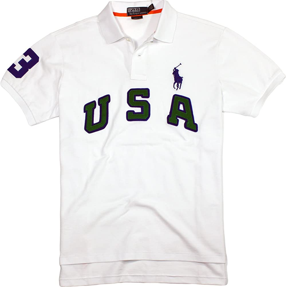 Polo Ralph Lauren Hombre Custom Fit USA Big Pony – Polo de malla ...