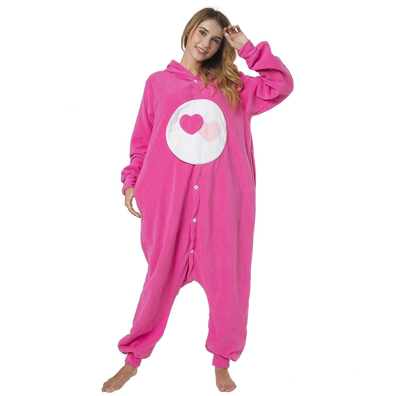 Katara 1744 - Kigurumi Pijamas con Capucha Disfraz Animal Oso Amoroso - Carnaval - Adultos Unisexo - XL, Amorosita Rosa: Amazon.es: Juguetes y juegos