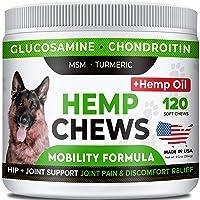 STRELLALAB Hemp Treats + Glucosamine for Dogs - Hip & Joint Supplement - w/Hemp...