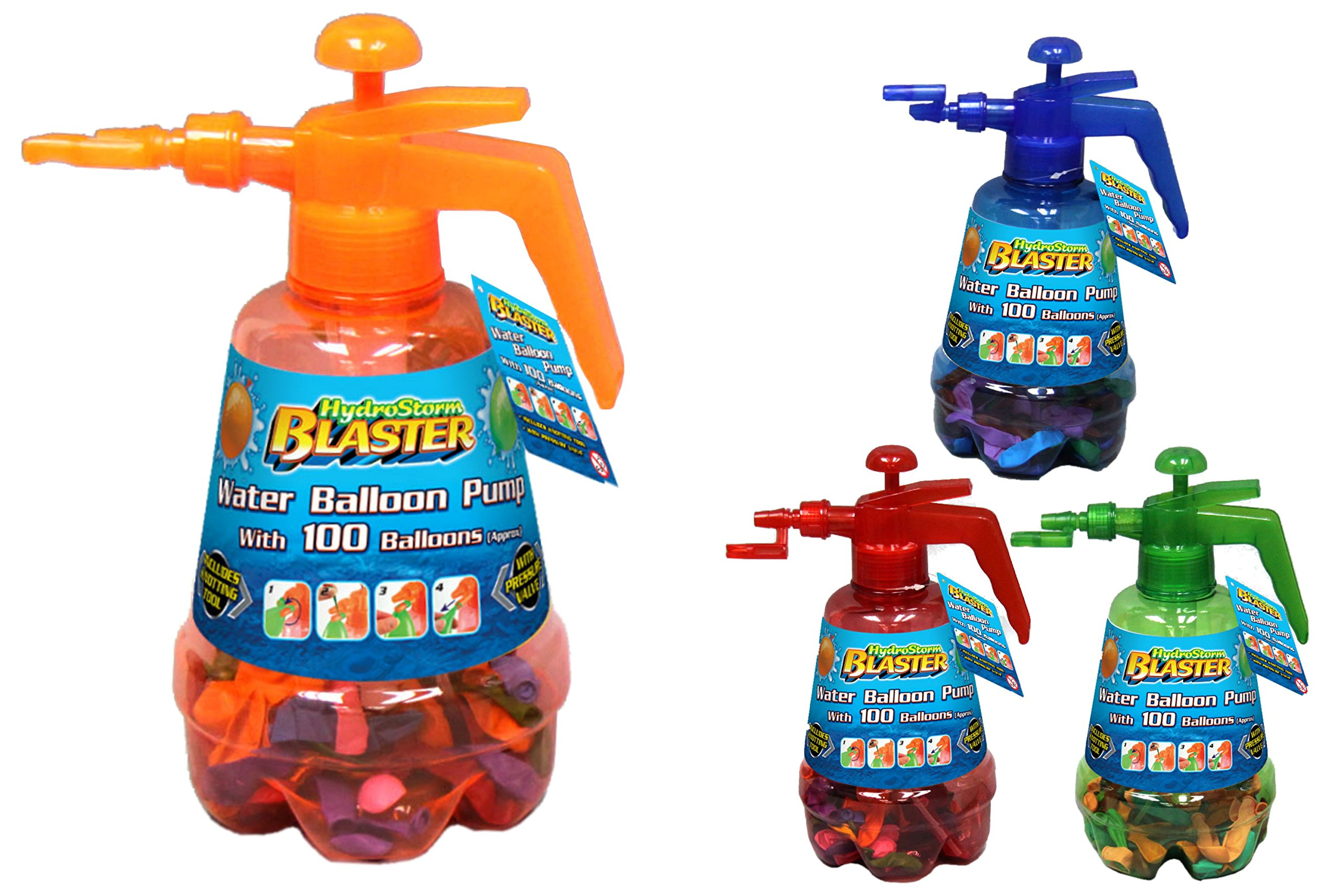 Toyland® Hydro Storm Blaster Water Balloon Pump with Multicoloured 100 Balloons