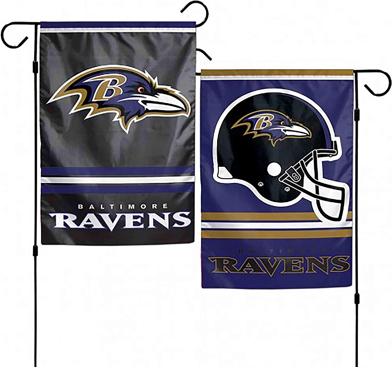 WinCraft NFL Baltimore Ravens 2-Sided Garden Flag, 12 x 18-inches