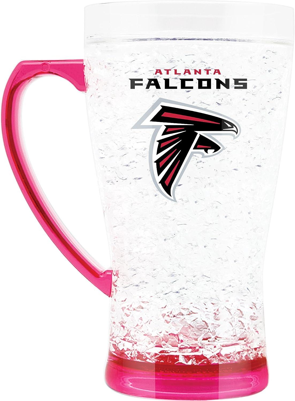 NFL Atlanta Falcons 16oz Crystal Freezer Flared Mug with Pink Base and Handle