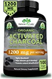 Organic Activated Charcoal Capsules - 1200mg Highly Absorbent Helps Alleviate Gas & Bloating Promotes Natural detoxification Derived from Coconut Shells - 100 Vegan Capsules