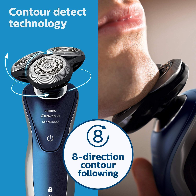 Philips 8000 series S8950/91 - Afeitadora (Máquina de afeitar de rotación, SH90, 1 año(s), Azul, Gris, AC/Batería, Ión de litio): Amazon.es: Hogar