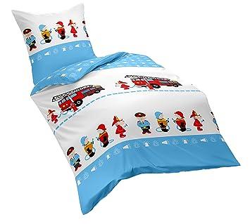 Dream Art Kids Bettwäsche Set Baumwolle Blau 100 X 135 Cm Amazon