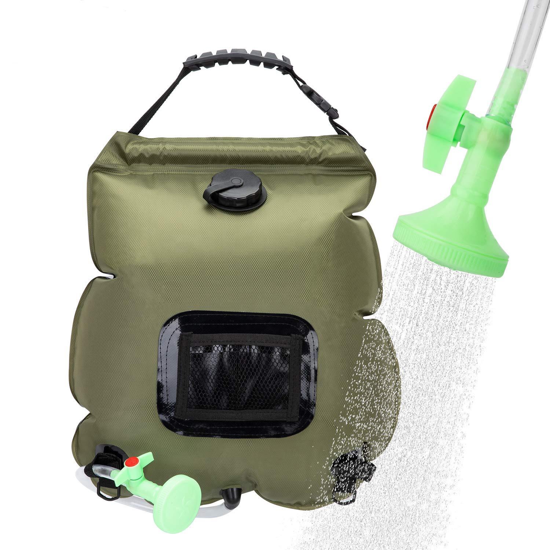 ویکالا · خرید  اصل اورجینال · خرید از آمازون · VIGLT Solar Shower Bag Summer Shower 5 Gallons/20L Solar Heating Camping Shower Bag with Removable Hose and Shower Head for Camping Outdoor Traveling Hiking wekala · ویکالا