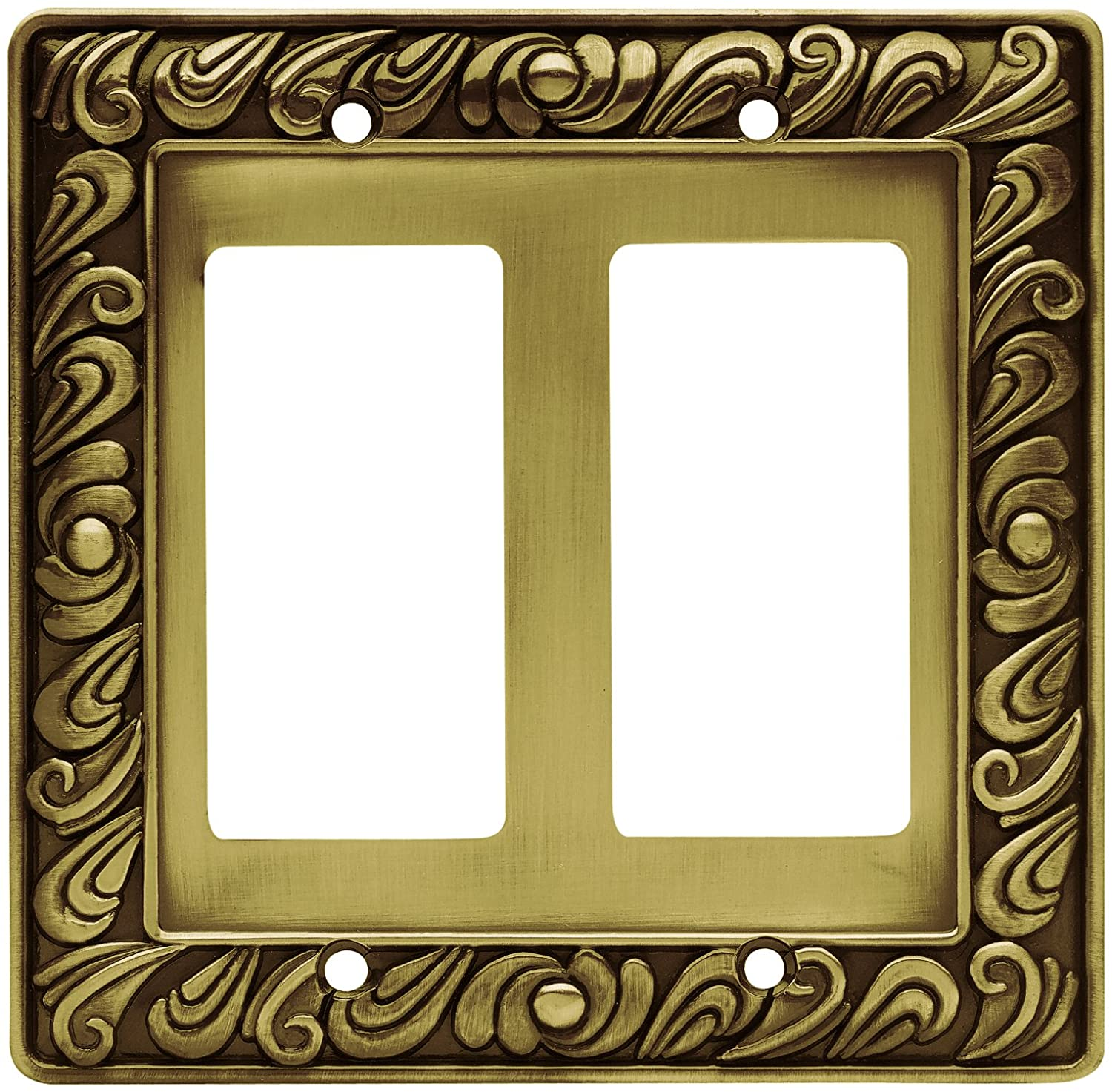 Franklin Brass 64038 Paisley Double Decorator Wall Plate / Switch ...