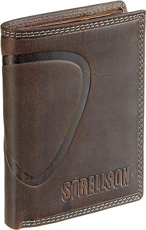 Strellson Baker Street Billfold V8 4010000224 Herren Geldbörsen 10x13x1 cm (B x H x T), Braun (dark brown 702)