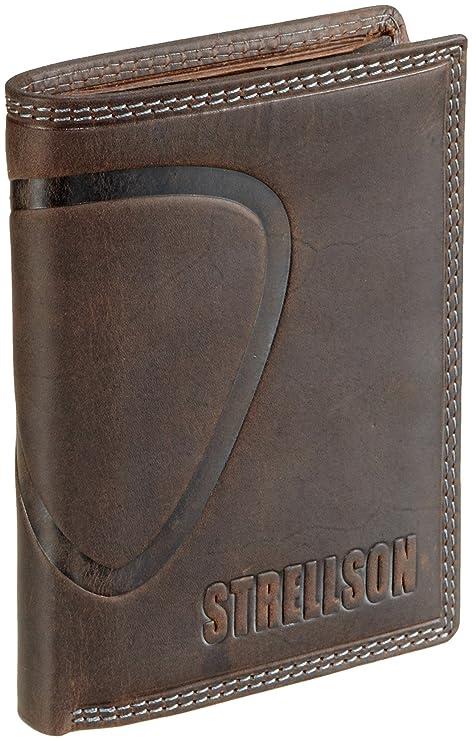 Strellson 22/31/01616 - Monedero de cuero para hombre, color marrón,