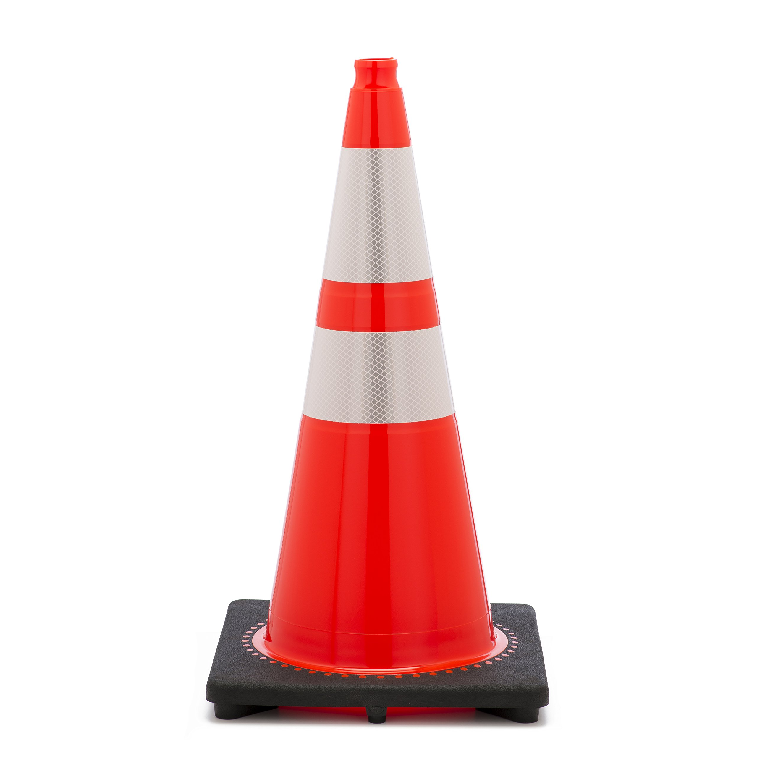 Mutual 17722 Traffic Cone with 10 lbs Reflective, 28'' Height, Orange