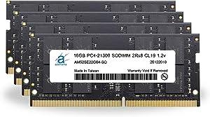"Adamanta 64GB (4x16GB) Memory Upgrade for 2020 Apple iMac 27"" w/Retina 5K Display & 2019 Apple iMac 27"" w/Retina 5K Display DDR4 2666Mhz PC4-21300 SODIMM 2Rx8 CL19 1.2v DRAM RAM"