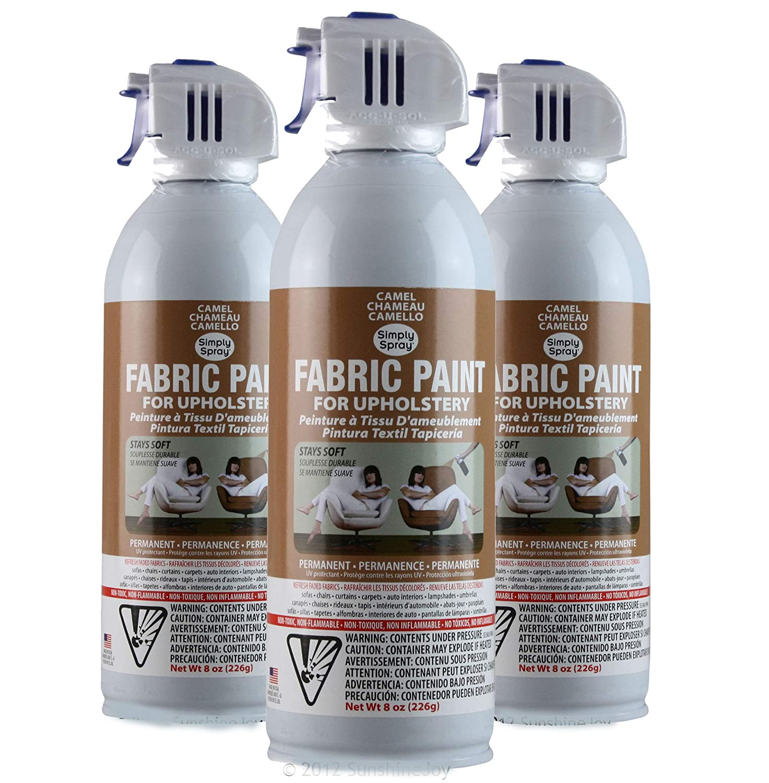 Amazon Com Simply Spray Upholstery Fabric Spray Paint 3 Pk Camel