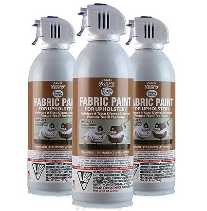 Simply Spray Upholstery Fabric Spray Paint 3 PK Camel