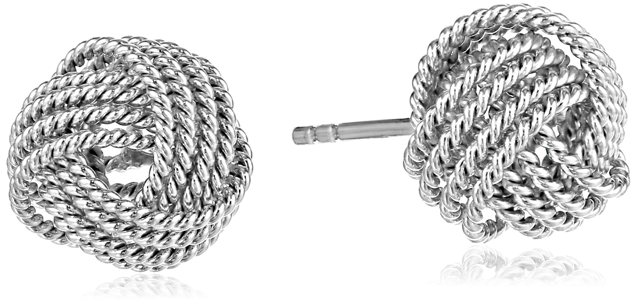 Amazon Essentials Sterling Silver Twisted Love Knot Stud Earrings by Amazon Essentials