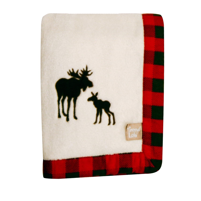 Trend Lab Northwoods Framed Receiving Blanket, Moose Applique 100688