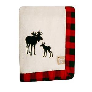 Trend Lab Northwoods Framed Receiving Blanket, Moose Applique