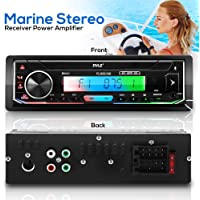 $36 » Pyle Bluetooth Marine Receiver Stereo -300W Single DIN Boat Marine Head Unit Amplifier…