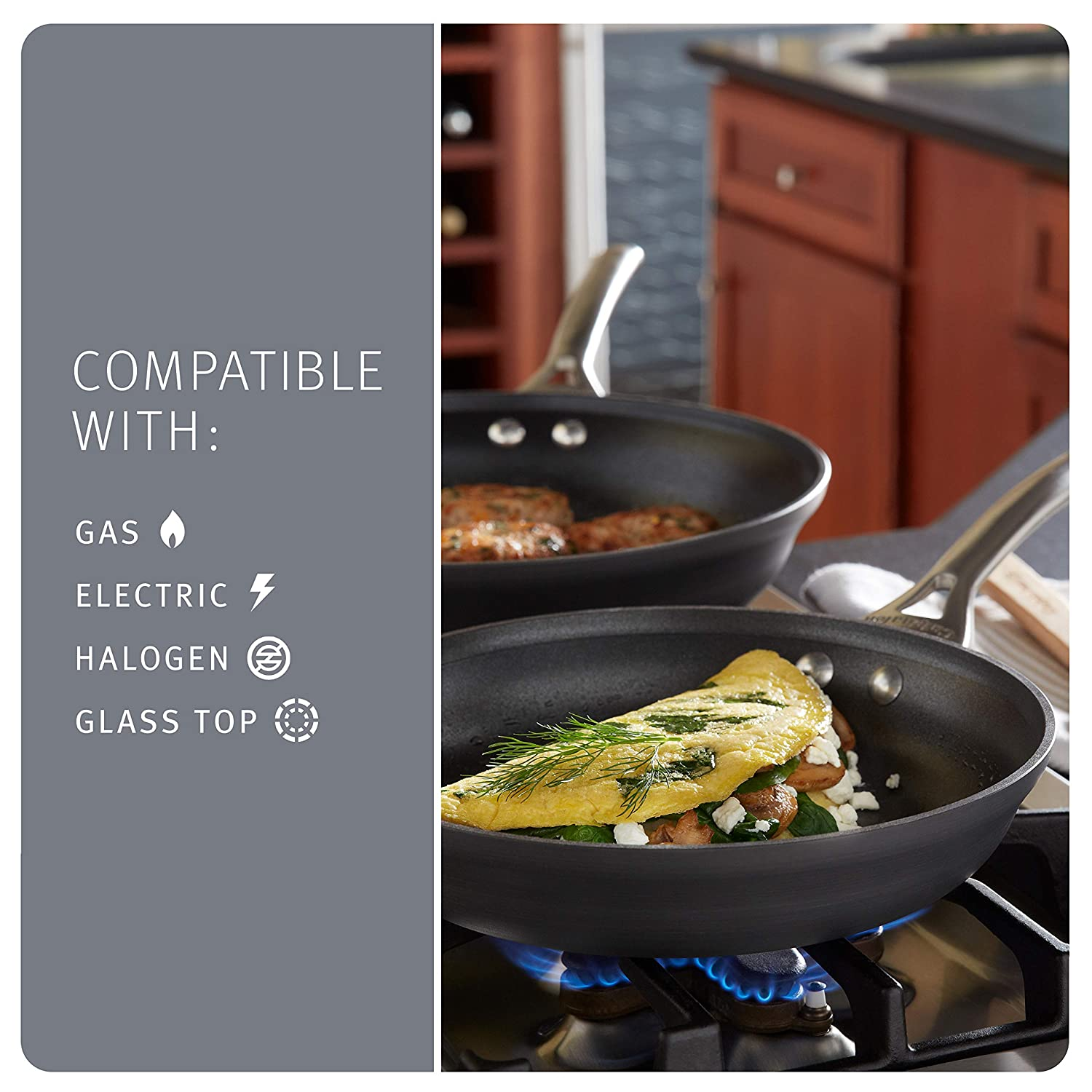 Calphalon Contemporary Hard-Anodized Aluminum Nonstick Cookware: Amazon.es: Hogar