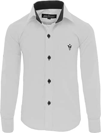 GILLSONZ A7vDa 86Bis158 - Camisa para niños (fácil de planchar, manga larga, 10 colores)