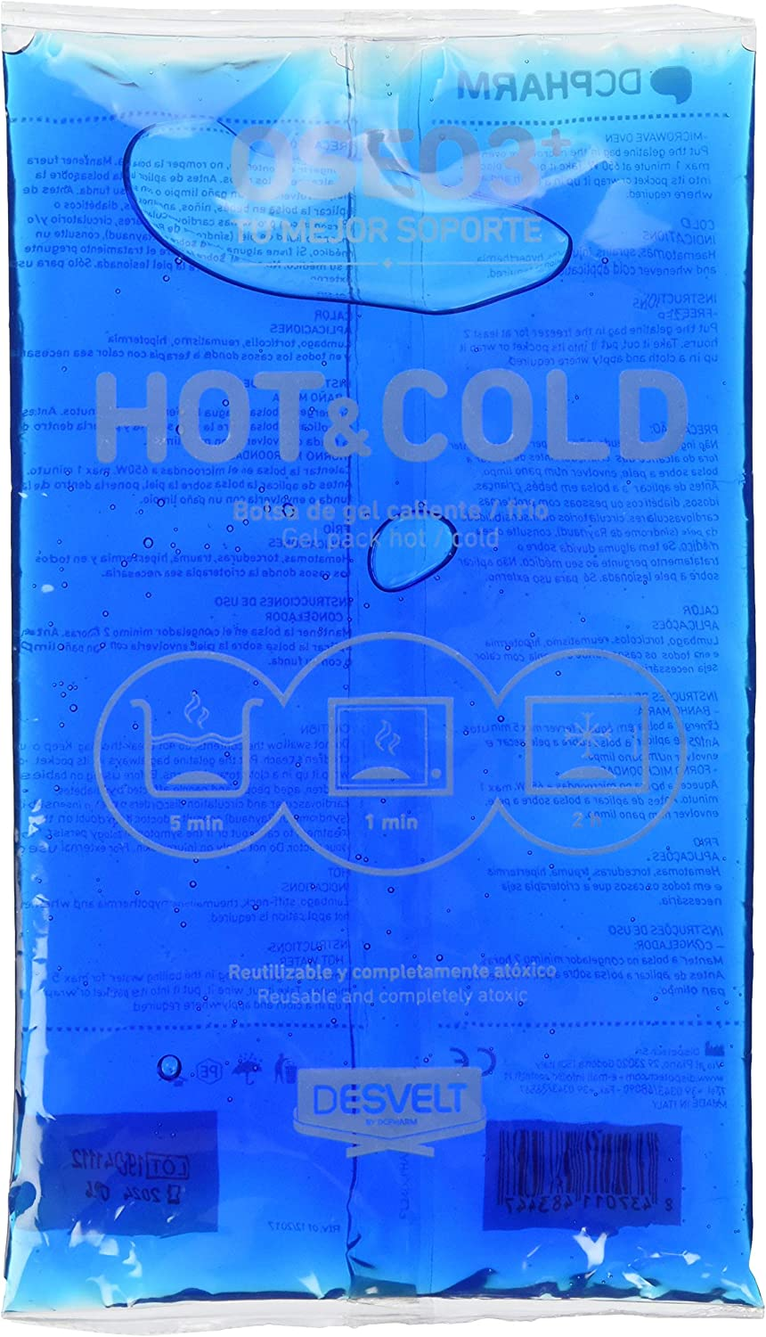 Dderma 52419 - Bolsa gel frio-calor, 140x240 mm: Amazon.es: Bebé