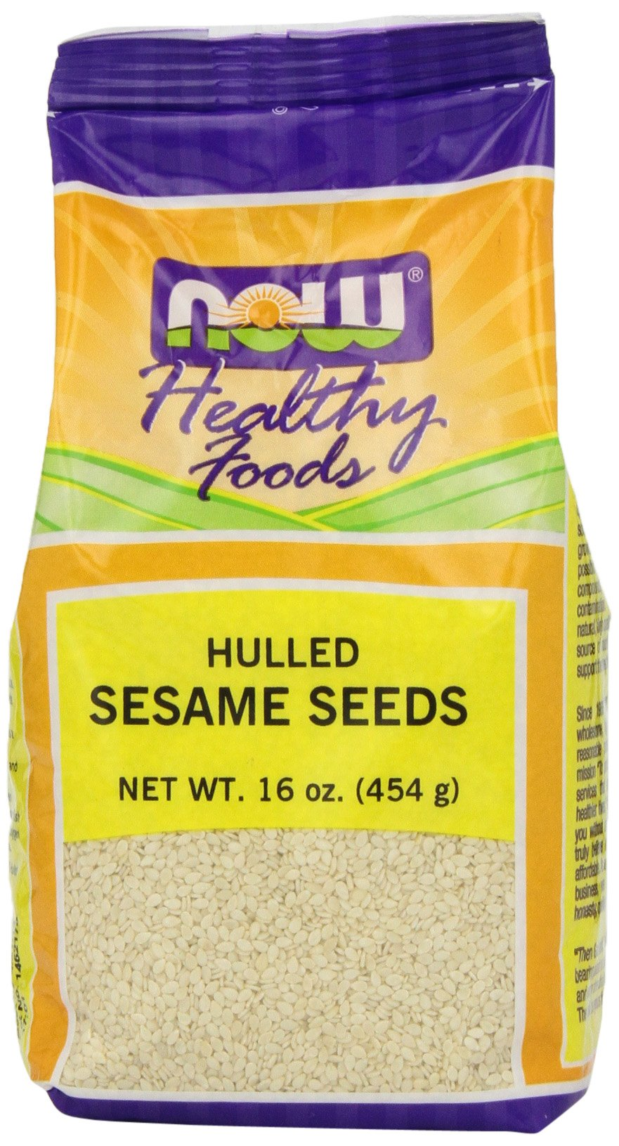 NOW Foods Sesame Seed Hulled, 16-Ounce (Pack of 6)