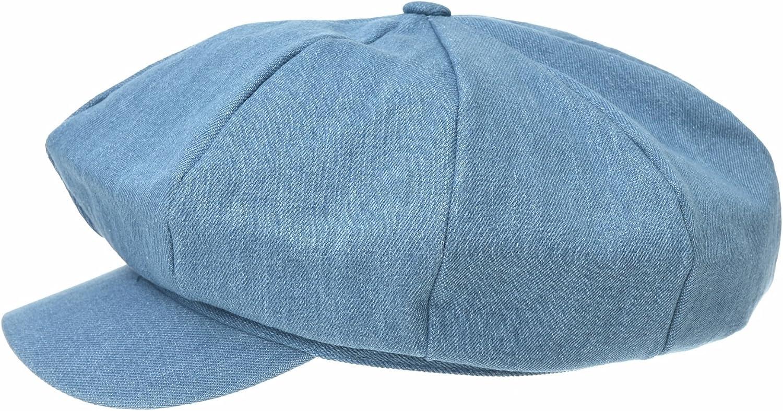 WIM Coppola Cappello Irish Gatsby Newsboy Hat Denim Jean Beret cap Visor Peaked SL3983