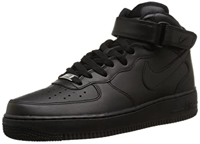 best service f3a2b a8f5c Nike Mens Air Force 1 Mid Basketball Sneakers Black Size 7.5 D ...