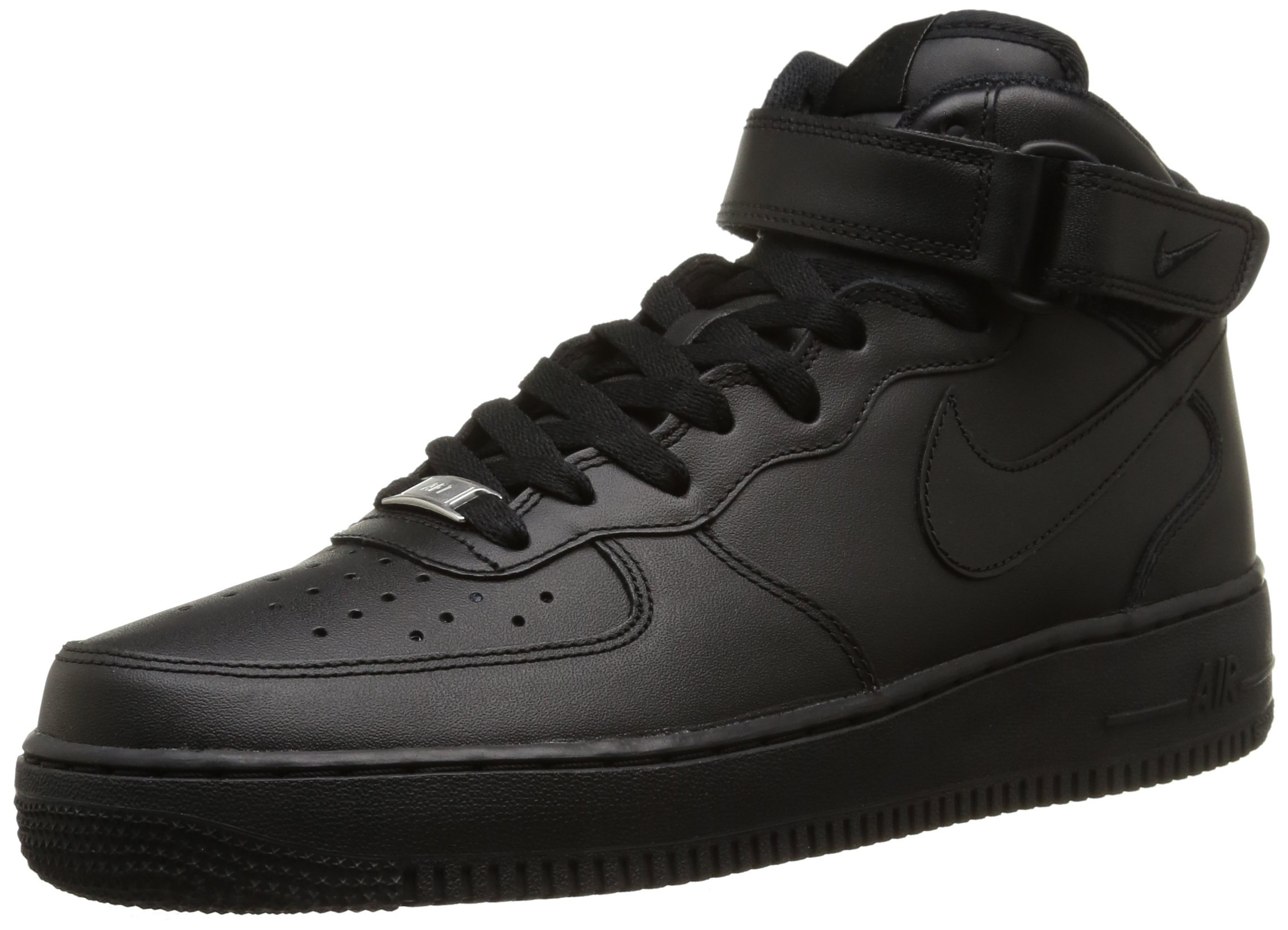 low priced 431be 6bd6f Galleon - Nike Air Force 1 Mid 07 Mens Hi Top Trainers 315123 Sneakers Shoes  (UK 6 US 7 EU 40, Black Black Black 001)