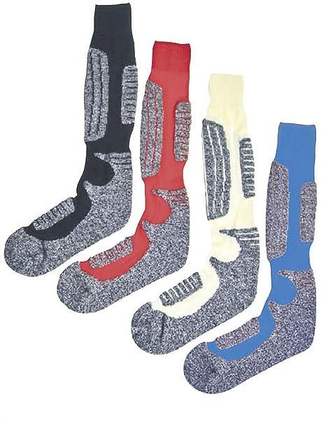 Calcetines Medias Pur de esquí con lana de oveja. Ajuste óptimo. Pack de 2: Amazon.es: Ropa y accesorios