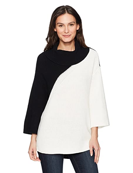 Chaus Women's Dolman Sleeve Colorblock Cowl Neck Sweater at Amazon ...