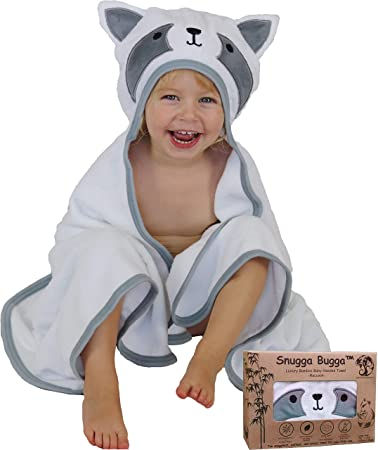 Newborns /& Infants Plush Great Baby Shower//Registry Gift Natemia Extra Soft Hooded Bathrobe for Kids for Girls,Toddlers Highly Absorbent Rayon from Bamboo Baby Bath Robe