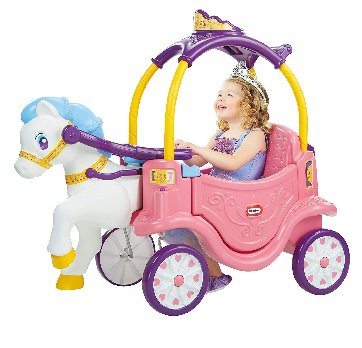 Amazon.com: Little Tikes Princess Horse & Carriage (Renewed ...