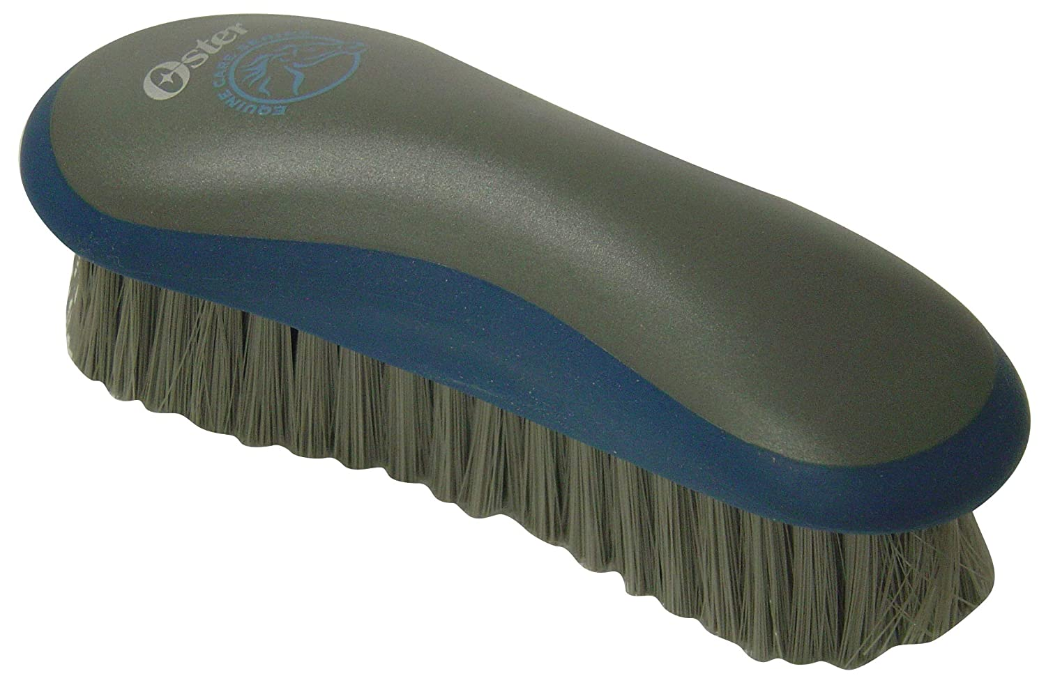 bluee One Size bluee One Size Oster Equine Care Series Grooming Brush, Medium Bristle, Synthetic, bluee
