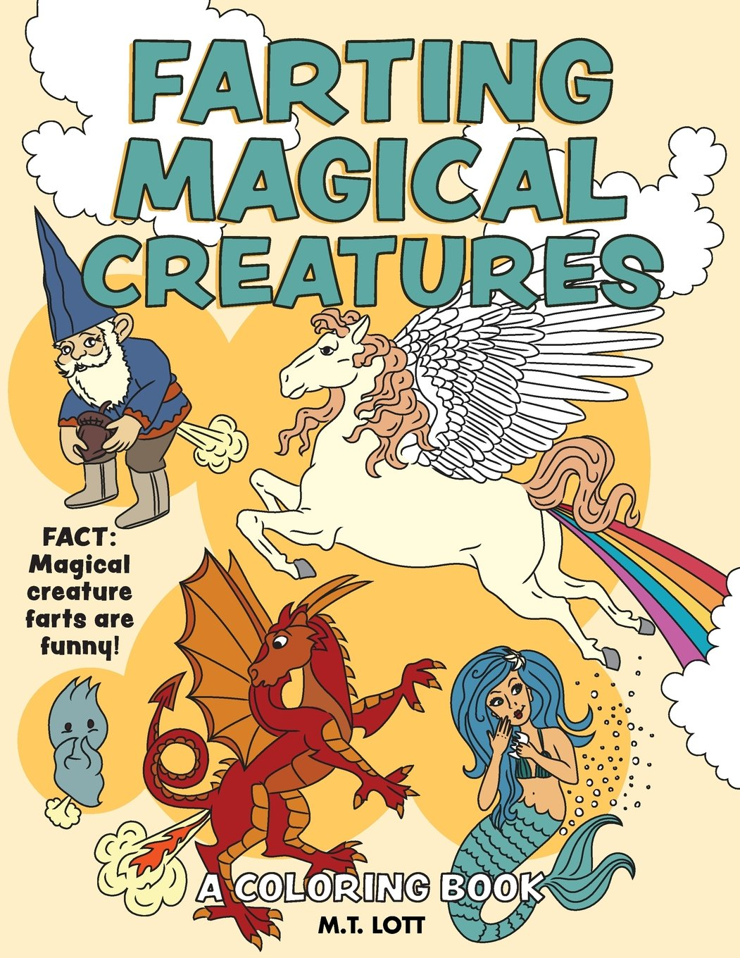 Farting Magical Creatures Coloring Book product image
