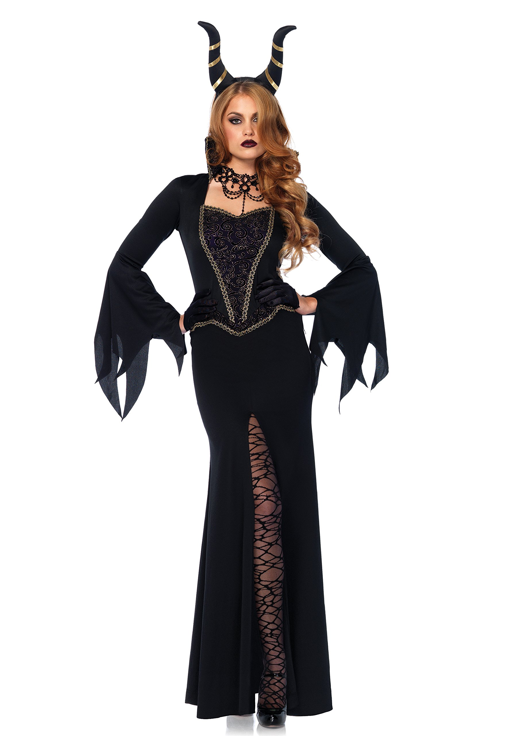 Leg Avenue Women's Evil Enchantress Villain Halloween Costume, Black, Small