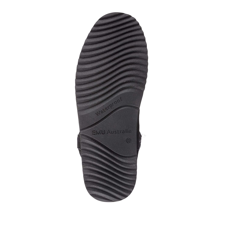 0db9c96d5fa EMU Australia Moonta Womens Waterproof Sheepskin Boots Size 6 Black ...