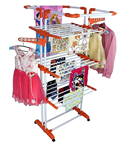 Truphe Ttl2365 Stainless Steel 3 Poll3 Layer Clothes Drying Stand
