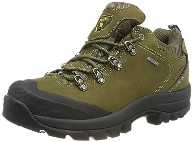 CAMEL Crown Herren Wanderschuhe Wasserdicht Trekkingschuhe Nubuk Leder Outdoorschuhe, Anti Rutsch Sohle Sports Schuhe Leichte Atmungsaktive Bequeme