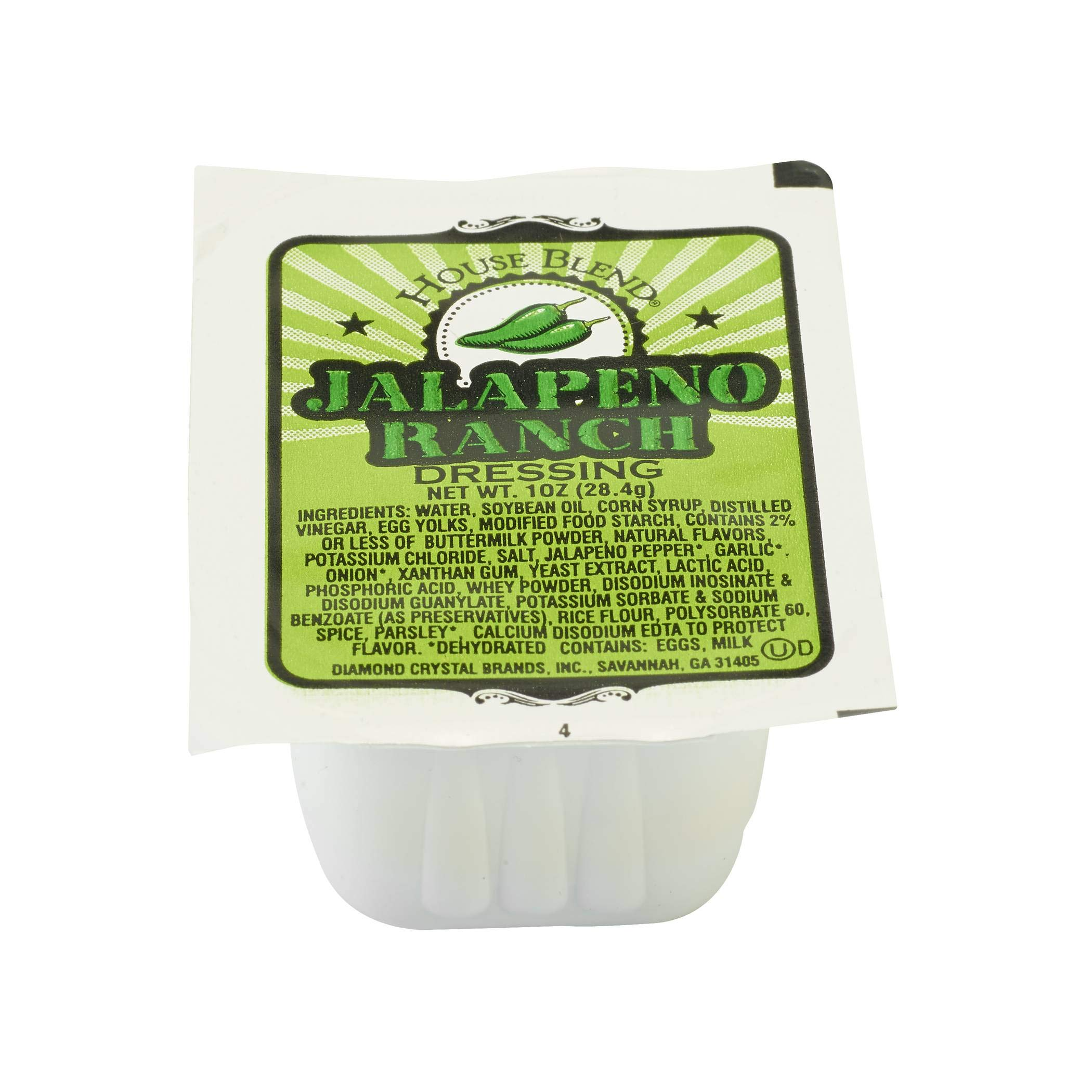 House Blend Light Jalapeno Ranch Dipping Sauce, 1 Ounce - 100 per case. by Diamond Crystal (Image #1)