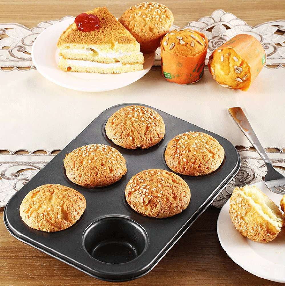 Amazon.com: Gessppo Molde de pastel 6 Cups Mini Cake Mould Muffin Bun Cupcake Baking Bakeware Mould No Stick Tray Pan/mold Baking Tool Kitchen Tool: Home & ...