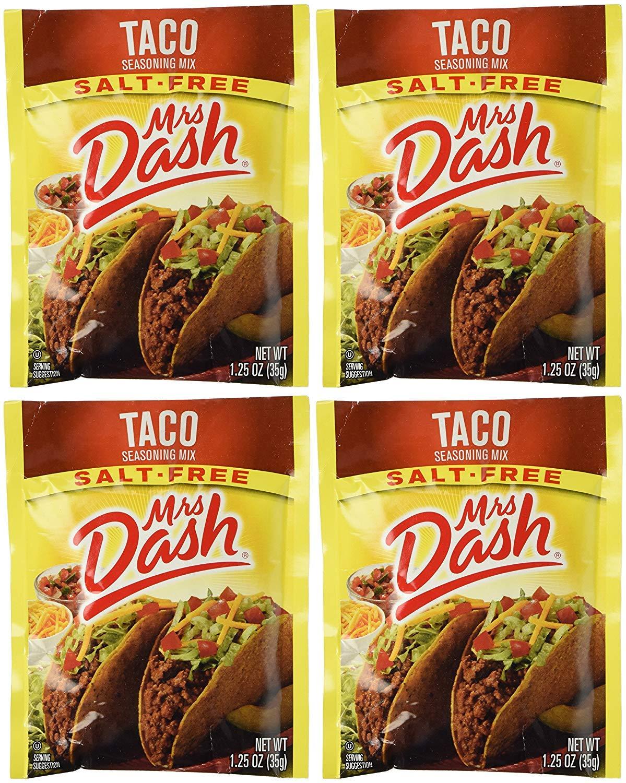 Mrs Dash Salt Free Taco Seasoning Mix (1.25 oz Packets) 6 Pack