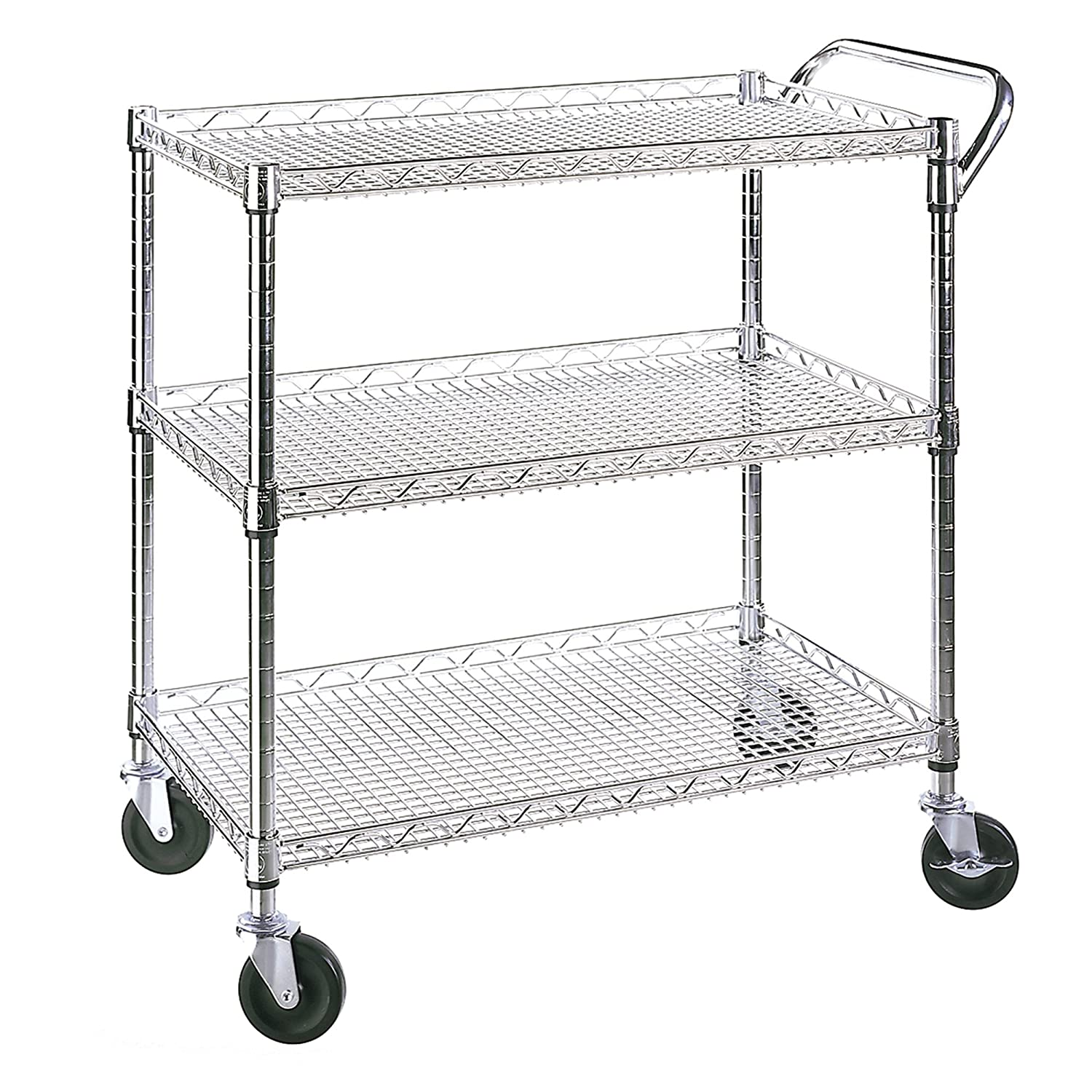 Seville Classics Industrial All-Purpose Utility Cart, NSF Listed SHE18304BZ