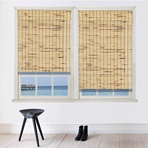 N / A Bamboo Roman Window Blinds Sun Shade