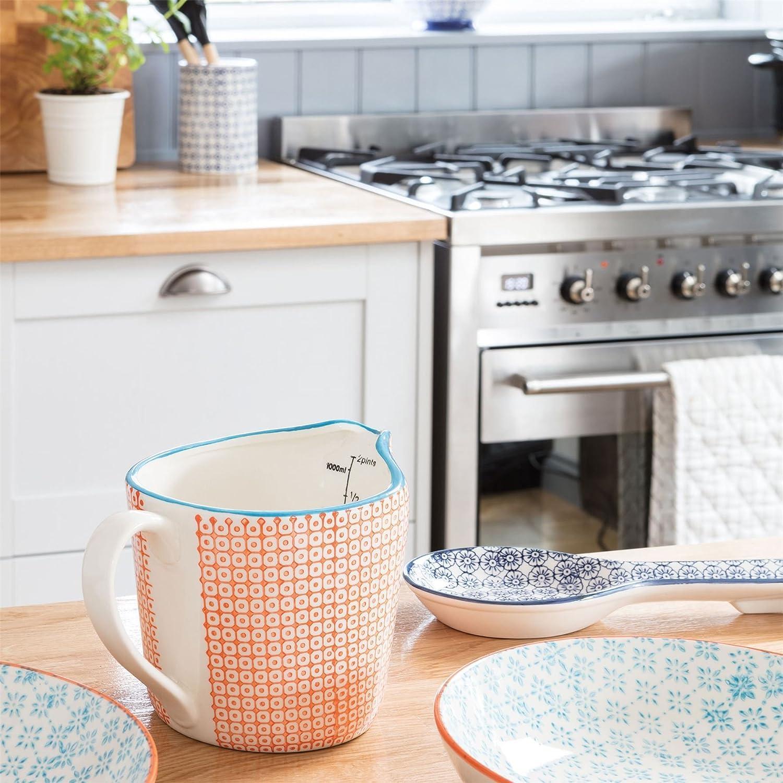 Porcelana con dibujos Cocinar Cuchara//Utensilios de cocina Resto Flor Azul Dise/ño de impresi/ón