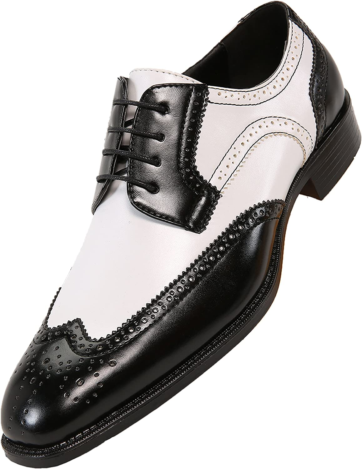 Bolano Elwyn, Mens Shoes Mens Dress Shoes Oxford Shoes for Men Wingtip Shoes Men Formal Shoes, Spectator Two Tone, Lace up, Brogue, Dress