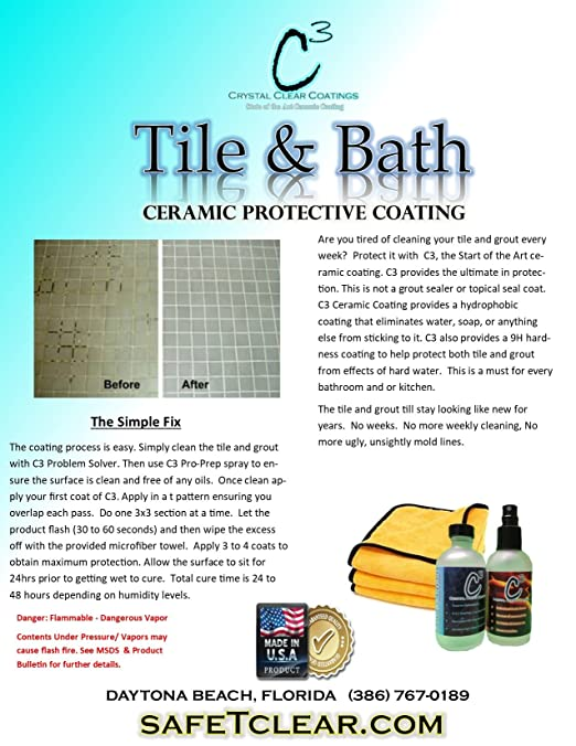 Amazoncom Ceramic Tile Bath Coating Ml Bottle With - Ceramic tile protective coating