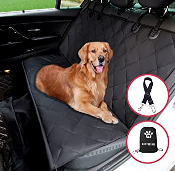 Hantajanss Pet Dog Car Seat Cover Nonslip Rubber Backing Waterproof Travel Hammock Covers With