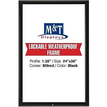 SnapeZo Locking Movie Poster Frame 27x40 Inches, Black 1.25 Aluminum ...