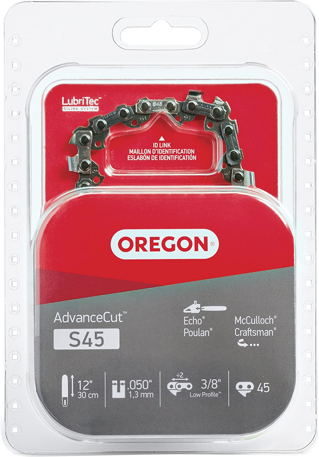 B00004RA8F Oregon S45 AdvanceCut 12-Inch Chainsaw Chain Fits Craftsman, McCulloch, Poulan, Remington 81MdNCrGsYL